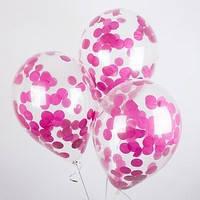 Конфеті для кульок гігантів, 25 грам, кола папір, рожевий, блакитний, червоний, малиновий, фіолетовий //