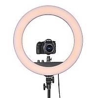 Профессиональная кольцевая лампа MakeUp RL-18II для косметологии 60 ВТ штатив не в сумке , держатель