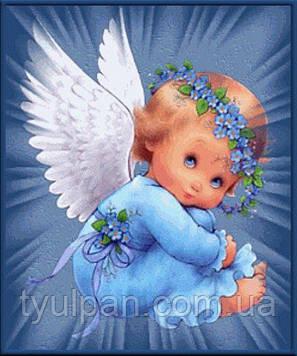 Вафельная картинка на пол листа размер 21*15 см ангелочек малыш