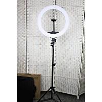 Профессиональная кольцевая лампа MakeUp KY-BK416  для косметологии 65 Вт , зеркало , держатель для телефона