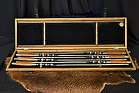 """Шампура ручной работы """"Creative"""" в деревянном футляре с гравировкой, 6шт"""