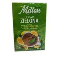 Чай зеленый  Milton с лимоном Польша (40 пакет) 70г