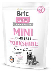 Сухой корм для йоркширских терьеров Brit Care Mini Grain Free Yorkshire с лососем и тунцом 400 г