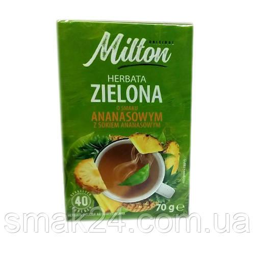 Чай зеленый  Milton с ананасом Польша (40 пакет) 70г