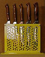 Набор кухонных ножей ручной работы в декоративной подставке