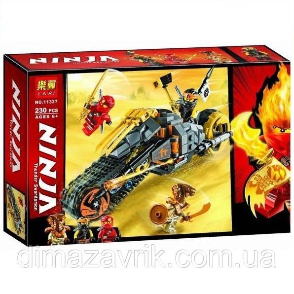 """Конструктор Bela11327 (Аналог Lego Ninjago 70672) """"Раллийный мотоцикл Коула"""" 230 деталей"""