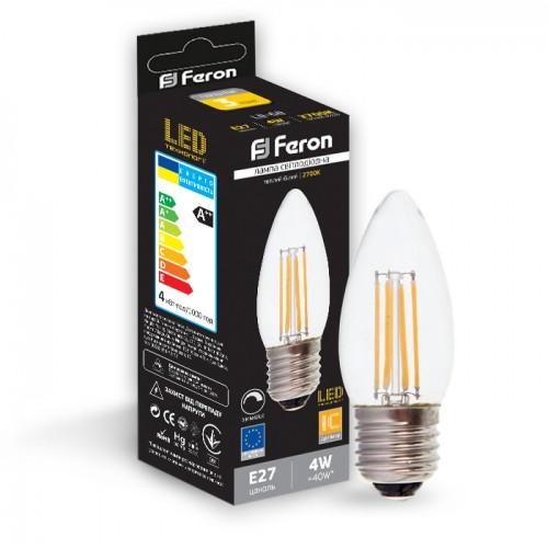Светодиодная лампа 4W E27 2700K диммируемая Feron LB-68