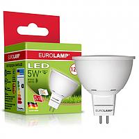 Светодиодная лампа 5w 4000K MR-16 под диммер LED 5W GU5.3 для декоративного освещения EUROLAMP