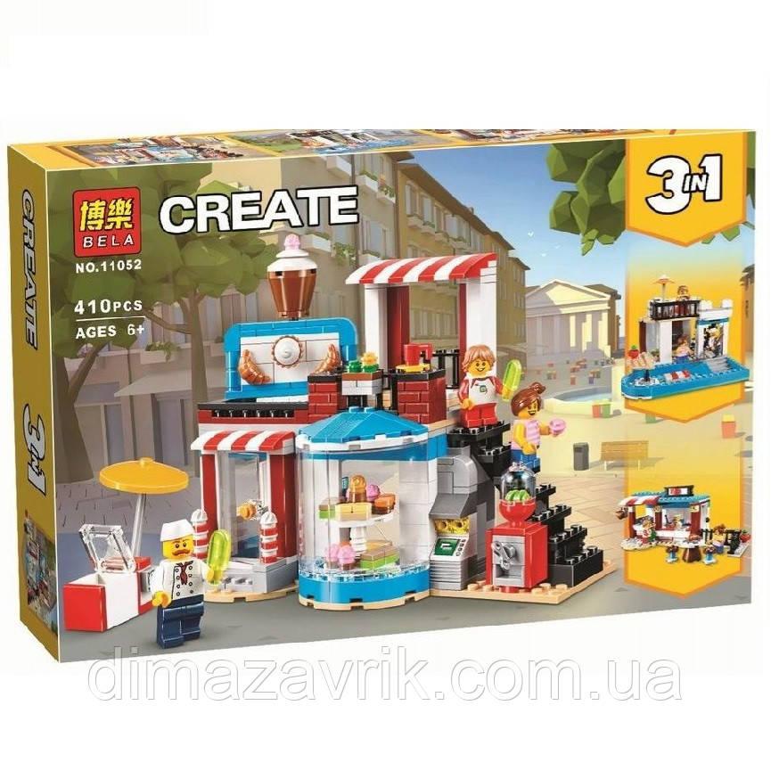 """Конструктор Bela 11052 (Аналог Lego Creator 31077) 3в1 """"Модульная сборка: приятные сюрпризы"""" 410 деталей"""