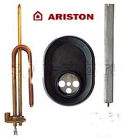 Комплект ТЭН для водонагревателя Аристон  2000 Вт М5 + прокладка +фланец +анод
