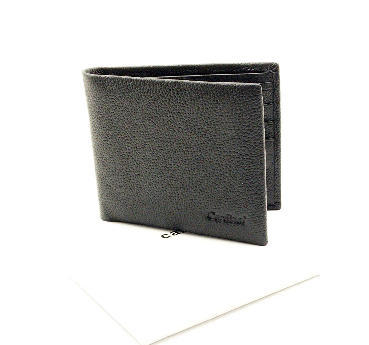 Мужской кожаный кошелек Cardinal 12,5 x 10 x 2 см Черный (k19-208c/1)