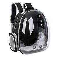 Рюкзак переноска для кошки собаки Черный, сумка для кота собак и домашних животных прозрачный, рюкзаки с