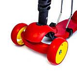Самокат беговел scooter Smart 3в1 красный., фото 3