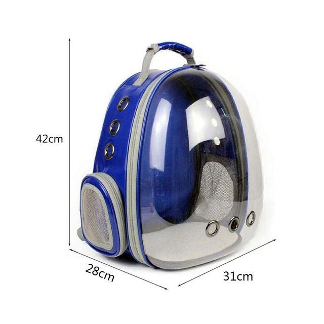 Размеры рюкзака для котов и собак Синий, просторная сумка переноска для животных - 29х27х42 см