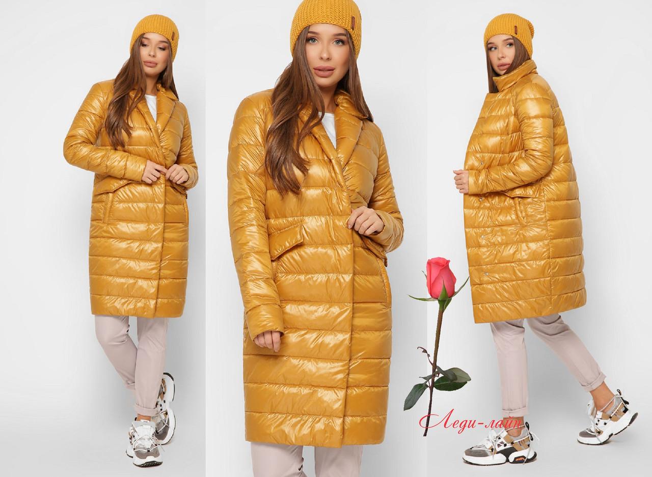Удлиненная демисезонная женская куртка на молнии   GT-8867