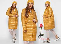 Удлиненная демисезонная женская куртка на молнии   GT-8867, фото 1