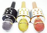 Беспроводной микрофон для караоке Wester WS-858 с динамиком и Bluetooth, фото 8