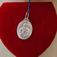 Серебряная иконка святого Николая 925 пробы