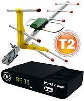 Комплект Т2  World Vision T65 + антенна ES-003 с усилителем