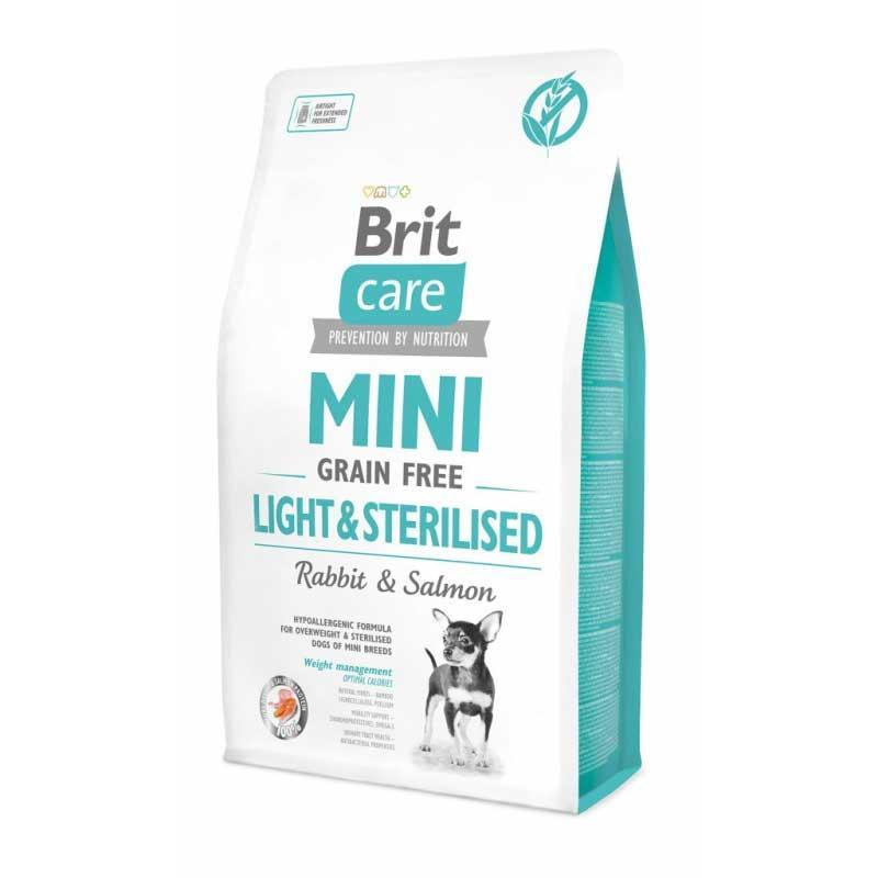 Корм для собак мелких пород Brit Care Mini Light & Sterilised 2кг