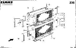 Радиатор водяной для комбайна Claas Lexion 480, фото 2