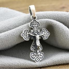 Серебряные крестики, иконки и кулоны с золотыми вставками