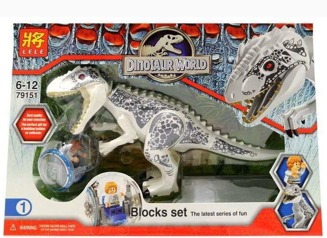 Лего динозавр большой  Индоминус Рекс  Lele 79151-1 Мир Юрского периода (аналог Lego Jurassic World 75919)