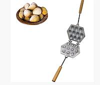 Форма для выпечки лесных орешков (орешница) — 10 орехов