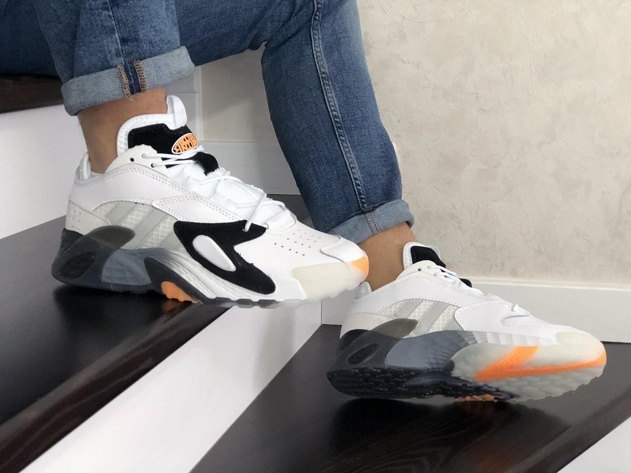Мужские яркие кроссовки белые 15\8818
