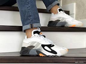 Мужские яркие кроссовки белые 15\8818, фото 3