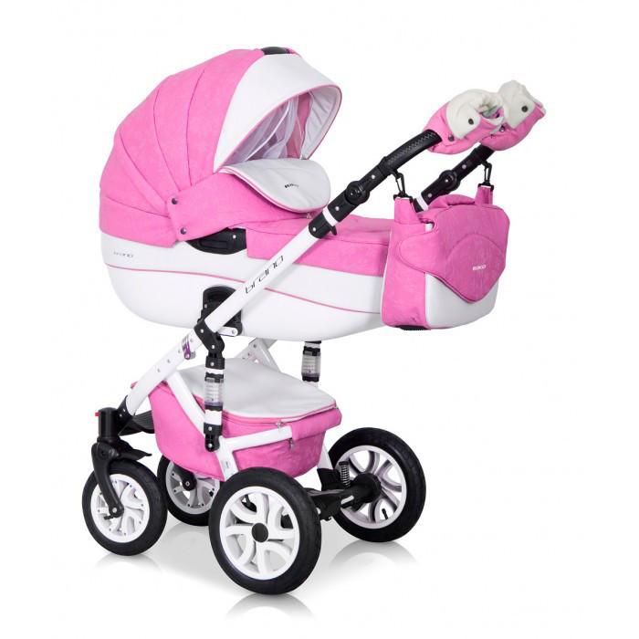 Дитяча універсальна коляска 3 в 1 Riko Brano Ecco 18 Baby Pink