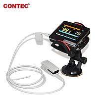 """Монитор пациента - пульсоксиметр PM-60A 3.5"""" цветной TFT дисплей, передача данных на ПК, Contec, фото 1"""