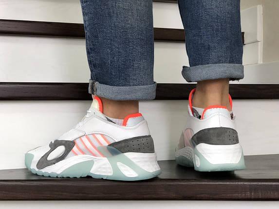 Мужские яркие кроссовки белые 15\8821, фото 2
