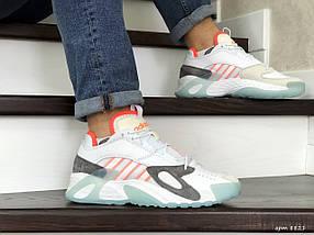 Мужские яркие кроссовки белые 15\8821, фото 3