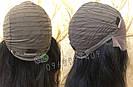 💎Чёрный парик из натуральных волос с шелковой вставкой💎 (имитация кожи головы), фото 8