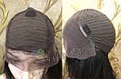 💎Чёрный парик из натуральных волос с шелковой вставкой💎 (имитация кожи головы), фото 7