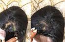 💎Чёрный парик из натуральных волос с шелковой вставкой💎 (имитация кожи головы), фото 5