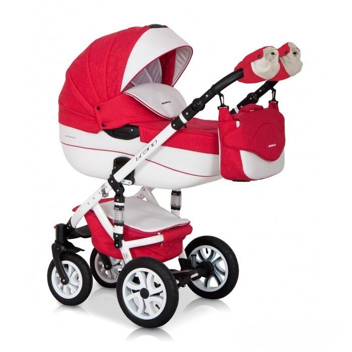 Детская универсальная коляска 3 в 1 Riko Brano Ecco 20 Sport Red