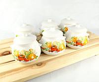 Горшочки для запекания в духовке 6 шт из керамики 600 мл Натюрморт