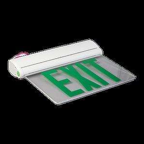"""Покажчик виходу акумуляторний для аварійного освітлення 220В з написом """"EXIT"""""""