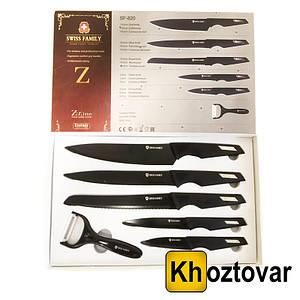 Набір ножів з нержавіючої сталі 6 в 1 Swiss Family SF-820   SF-994