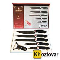 Набор ножей из нержавеющей стали 6 в 1 Swiss Family SF-820   SF-994