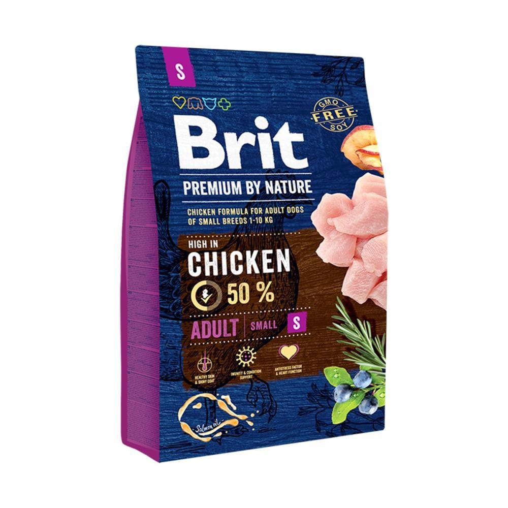 Корм для собак Brit Premium Dog Adult S 8кг