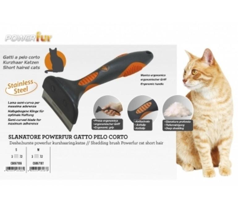 """Фурмінатор  POWERfur CROCI """"М"""" для короткошерстних котів вагою більш ніж 4,5 кг, 6,5 см"""