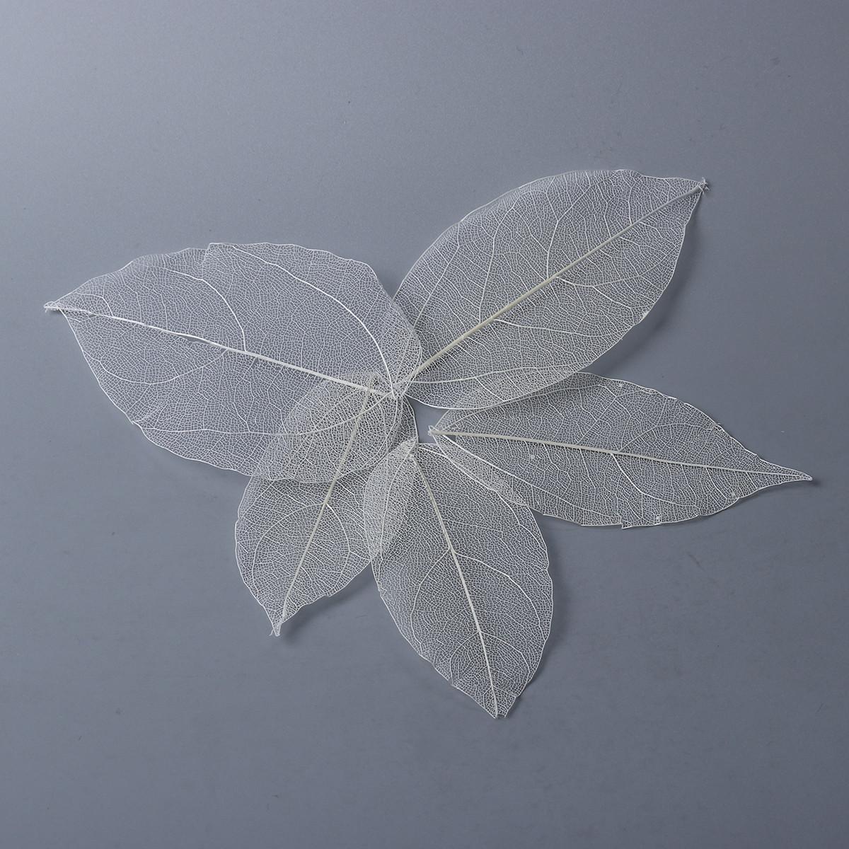 Інструмент для епоксидної смоли, Білі листочки, 7.2 см x 5.1 см - 5.5 см - 3.1 см, Упаковка 5 шт.