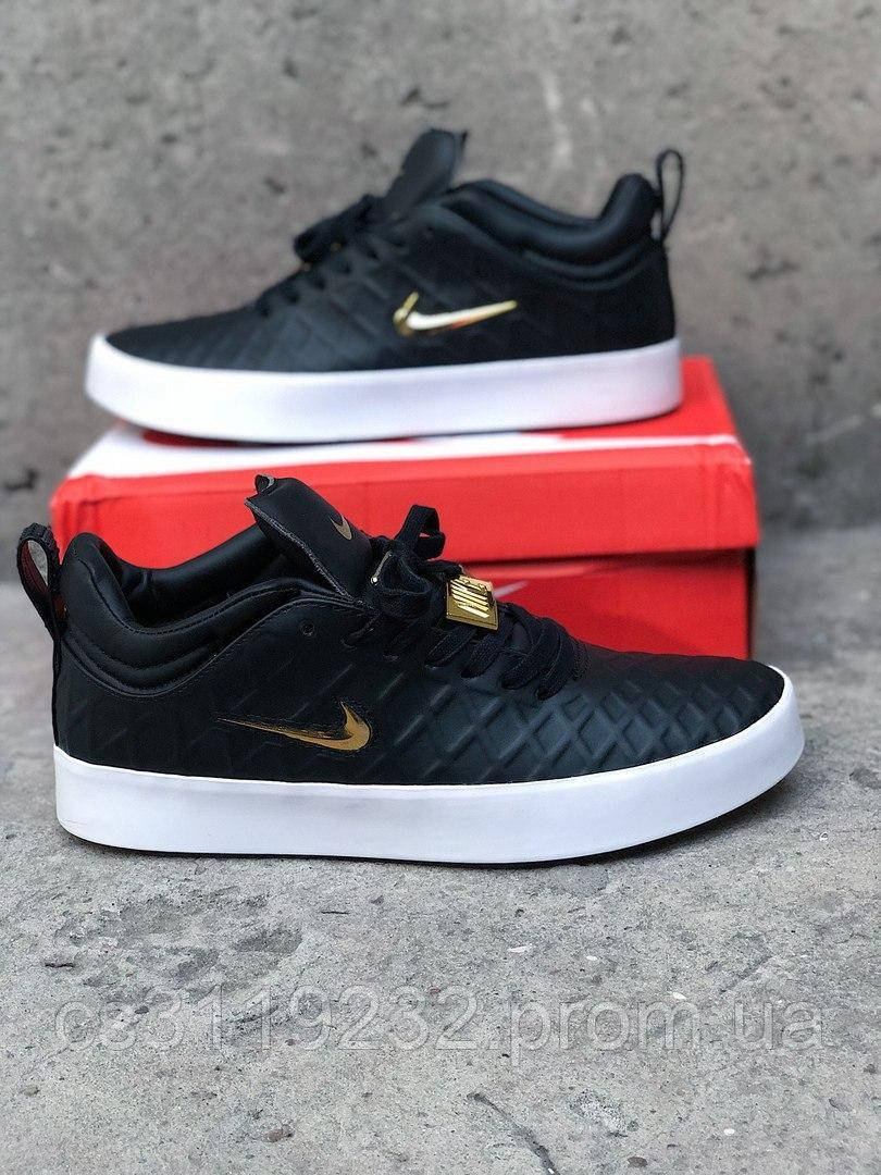 Мужские кроссовки Nike Tiempo Vetta 17 Black Gold(черные)