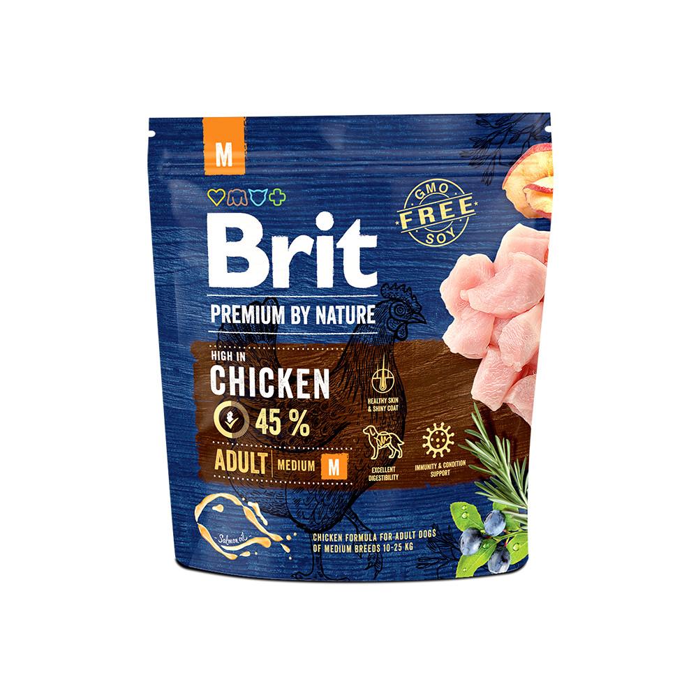 Корм для собак Brit Premium Dog Adult M 1кг