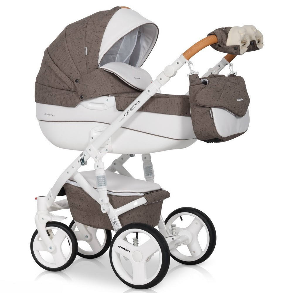 Детская универсальная коляска 3 в 1 Riko Brano Luxe 01 Mocca