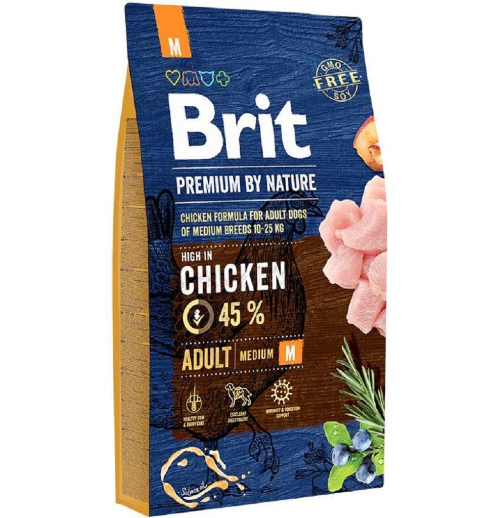 Корм для собак Brit Premium Dog Adult M 8кг