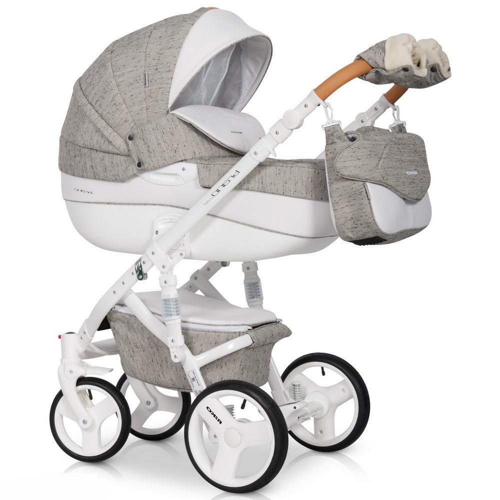 Детская универсальная коляска 3 в 1 Riko Brano Luxe 02 Latte
